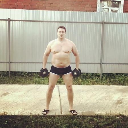 """Андрей Чуев on Instagram: """"Уже сто раз я возвращался к спорту и забывал его, как потерянный носок. Я худел и снова набирал вес, раз десять и опять ..."""