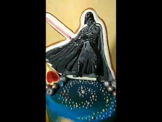Тортик для маленького любителя Дарта Вейдера
