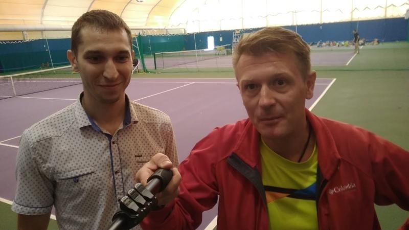 Антон Васильев рассказывает о Академии тенниса. г.Псков, Видный.