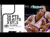 Allen Iverson 16 pts 10 asts 3 stls vs Lakers 9697 season