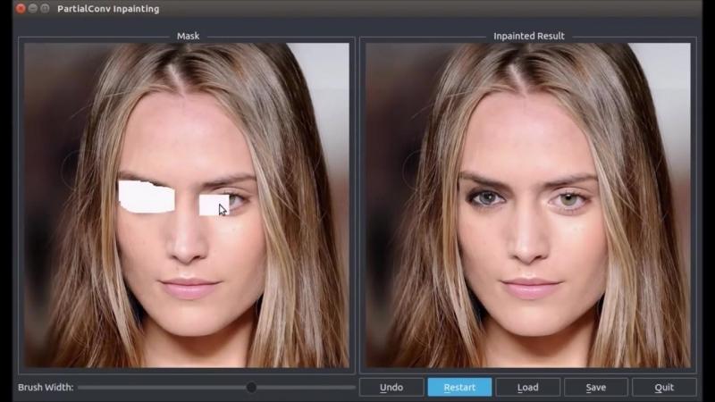 Нейросеть NVIDIA «домысливает» скрытые фрагменты изображений