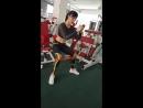 Разведение ног с резиной сидя