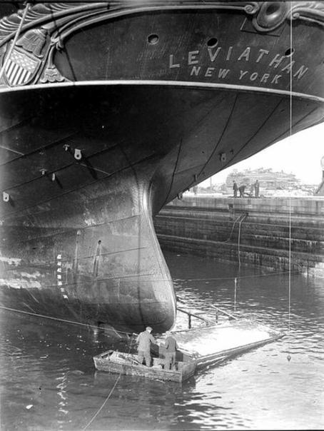 Самое большое судно 19 века  Левиафан, Нью-Йорк, 1859 г.