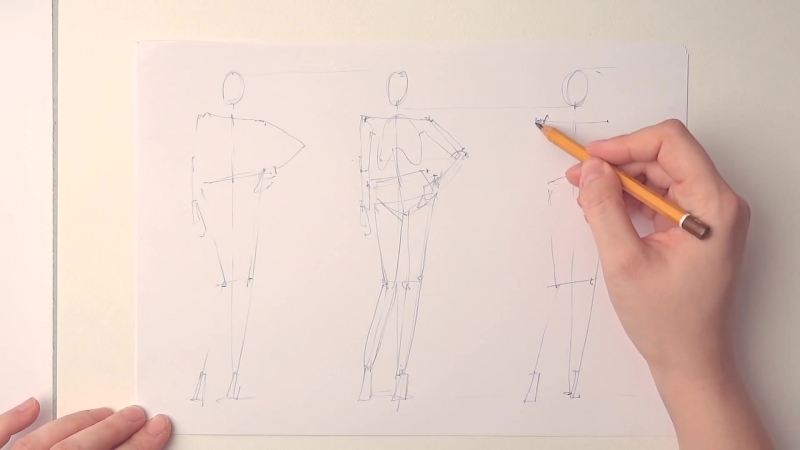 Learn how to draw fashion poses in 3 easy steps