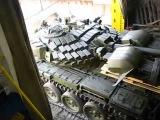 Погрузка украинских танков на корабль для переброски
