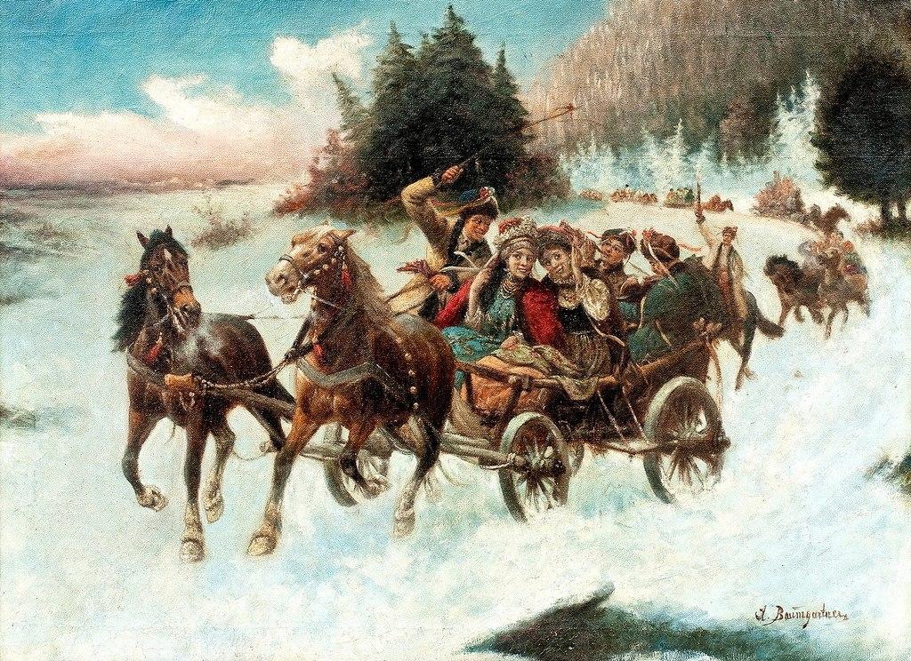 Несла по небу тройка лошадей -