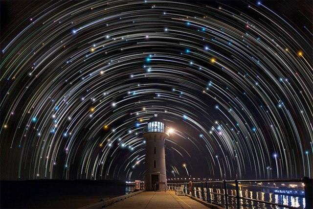 Star Trails in Singapore Sky