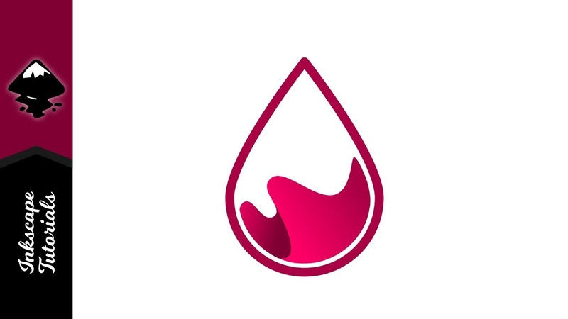 Inkscape Tutorial | Create a Water Drop Wave logo