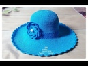 Hướng dẫn móc mũ rộng vành - Mẫu 1- How to crochet a wide brim hat (Ver1)