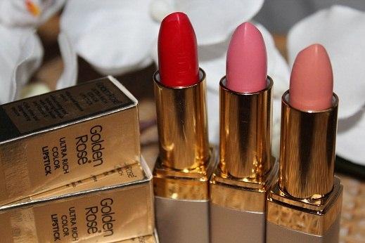Губная помада golden rose ultra rich color lipstick vk.