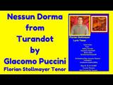 Nessun Dorma from Turandot by (GIACOMO PUCCINI) by Florian Stollmayer Tenor (Toronto May 12, 2019)