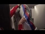 Медведева показала, как олимпийцы из России прятали триколор в форме