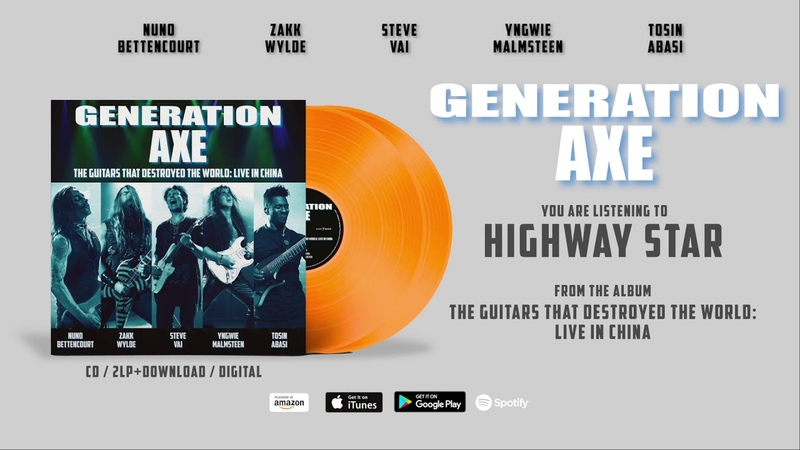 Generation Axe Highway Star (Live in China) Official Song Stream - Album out June 28th