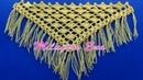 Punto a Crochet ABANICOS combinado con punto Red para CHALES EN V, TRIANGULARES O EN PUNTA