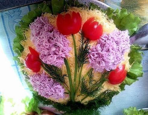 Украшения салатов