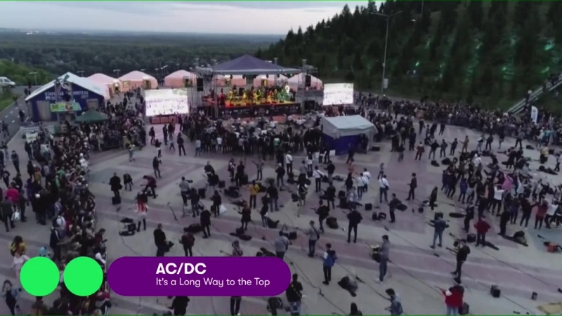 День 1000 музыкантов - It's a Long Way to the Top (ACDC kurai cover)