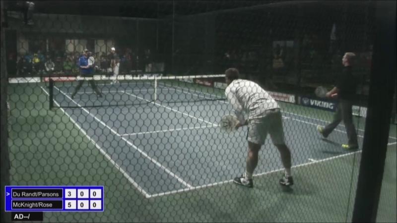 Это Платформ Теннис, ооочень похоже на Падел-Теннис. 2015 Mens Nationals Quarter Final Match
