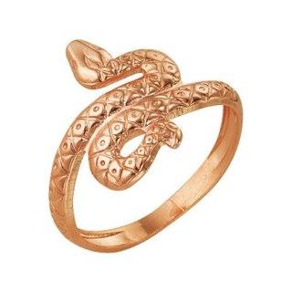 Кольцо бижутерия Змея золочение арт.2355цр.