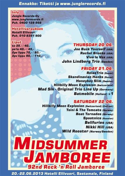 20/22.06 - 92th Rock'n'Roll Jamboree (расписание выступлений)