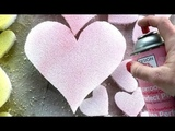 DIY Styrofoam Conversation Heart Topiaries for Valentines Day