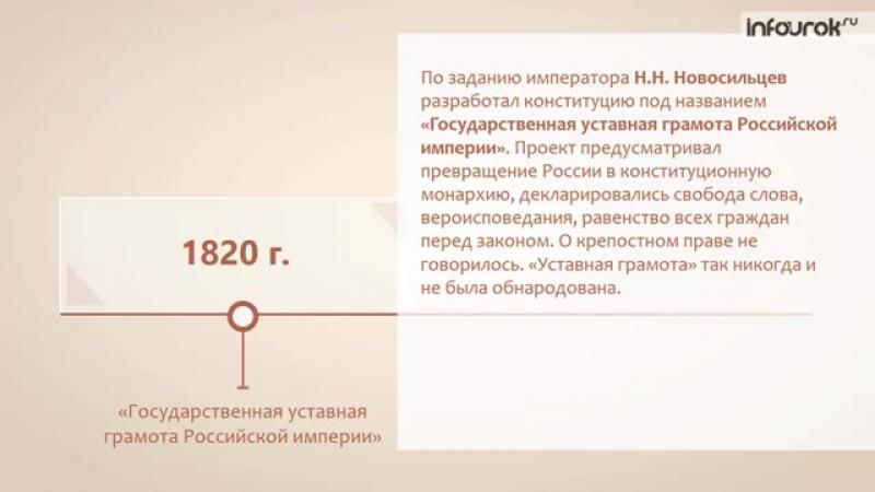 Российское государство в первой половине XIX века _ История России 10 класс