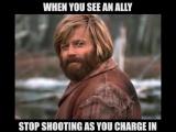 Когда лучник перестает стрелять перед твоим натиском