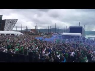 Will Grigg's on Fire. Best fan in Euro 2016