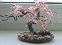Дерево из бисера, сакура. а это клен.