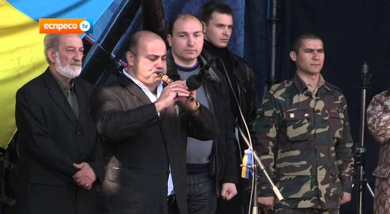 Представники Вірменського народу на віче памяті Небесної сотні