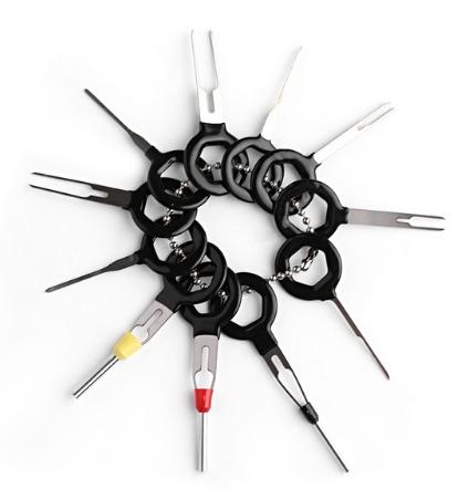 Набор из 11 специальных экстракторов Предназначенный для разбора всех разъмов коннекторов