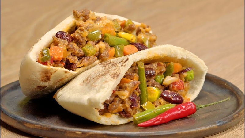 Пита по-мексикански. Быстро, вкусно, сытно. Рецепт от Всегда Вкусно.