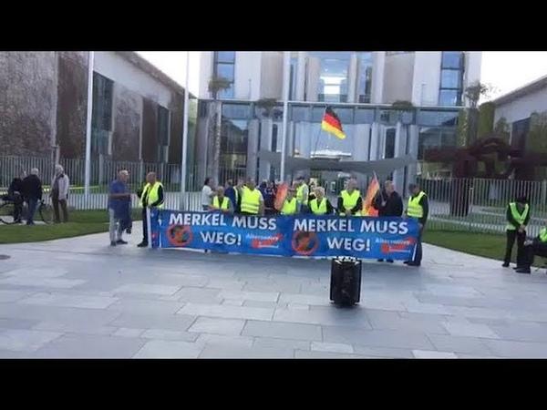 Merkel MUSS weg, 110. AfD Demo in Berlin mit Franz Wiese (AfD) 24.04.2019