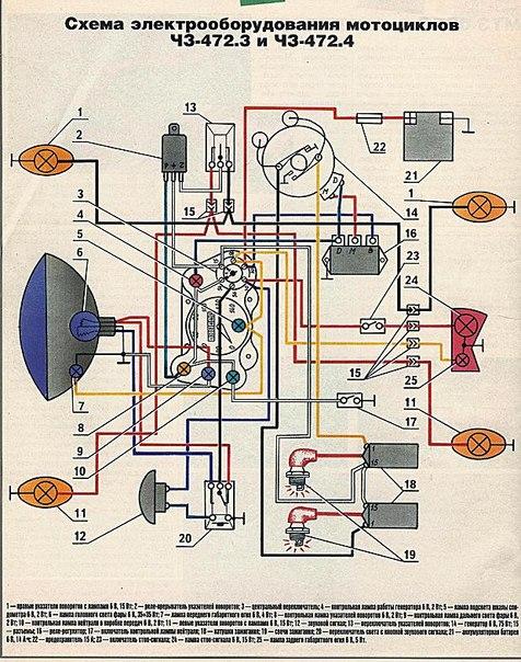 Электросхема для ЧЗ-472.3 и