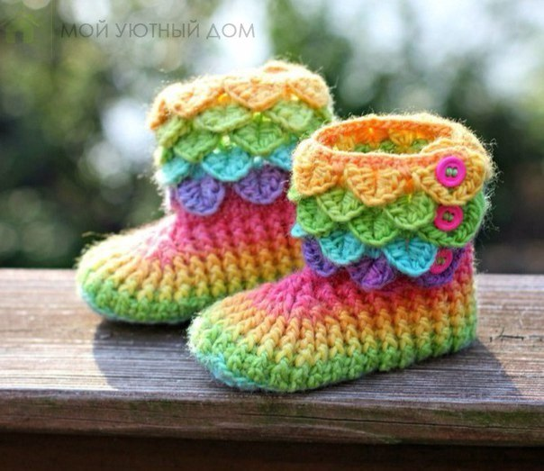 Patron para tejer botines a crochet Ideas de Manualidades