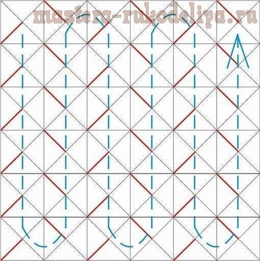 Вот схема и порядок шитья буфа