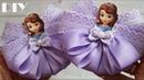 Бантики из лент с принцессой 🎀