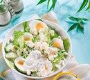 Легкий салат из огурца и яиц