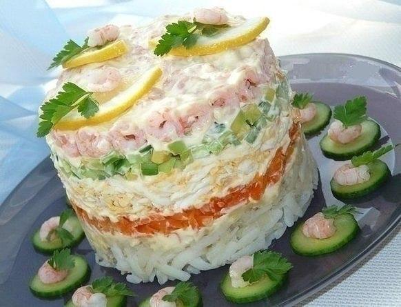 Салат с креветками - легко и вкусно