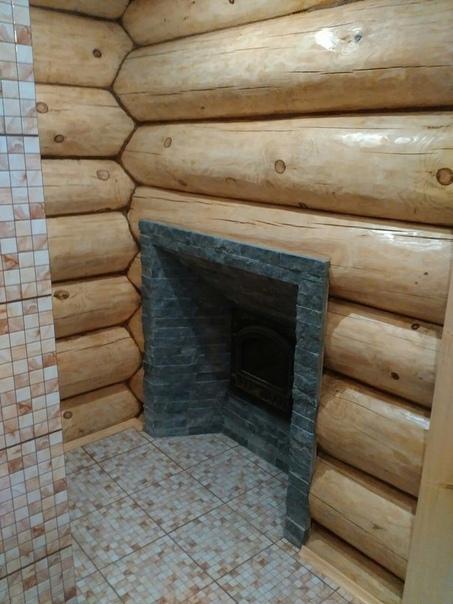 баня из рубленного бревна, сделанная своими руками (источник: gofazenda)