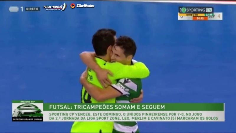LigaSportZone | Jornada 2 | Unidos Pinheirense 0-7 Sporting CP