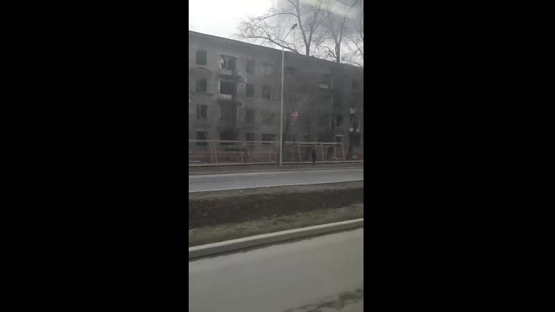 Кировский район. Закамск. Пожар на Маршала Рыбалко 7а