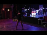 Yoanna (YEMAMBO) salsa solo show in Moscow