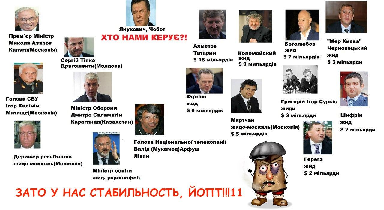 Жиди і всяка наволоч керує Україною