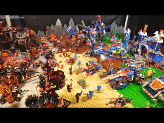 Huge LEGO NEXO Knights battlefield with ALL year 1 sets!