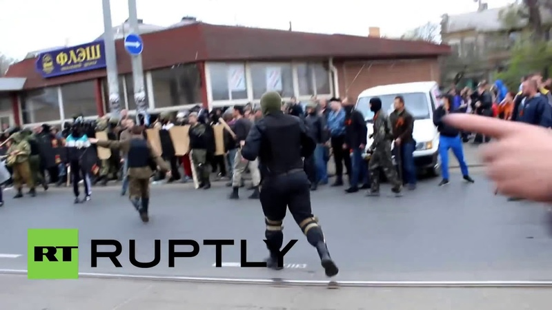 10 апреля 2014 Одесса Seven injured in scuffles during Odessa protest