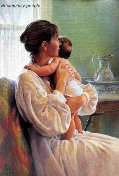 """Склонилась ночью мама над кроваткой И тихо шепчет Крошечке своей: """"Ты только не болей, мой Зайчик сладкий, Прошу тебя, ты только не болей..."""" Когда болезнь к ребёнку подступает, Рыдает материнская душа. И мама до утра не засыпает, К щеке прижав ладошку малыша... Когда блестят глаза не от веселья, Когда температурит сын иль дочь, То сердце мамы плачет от бессилья, Пытаясь все болезни превозмочь... Укутав нежно Счастье в одеяло, Прижав своё Сокровище к груди, Она без перерыва…"""