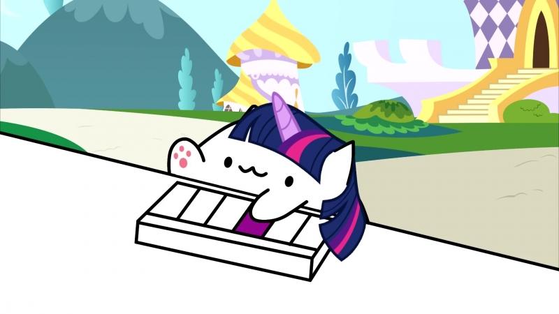 Keyboard Ponies Animation (Bongo CatMLP Parody)