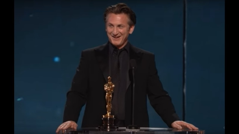 Sean Penn winning Best Actor for Milk
