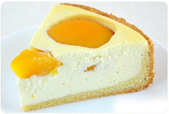 Творожный пирог с персиками в мультиварке рецепт