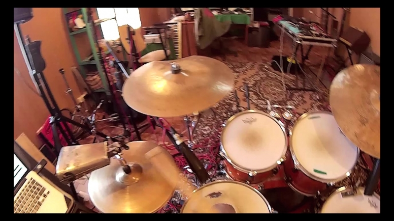 Salych on drums. Headcam. Bob Marley - Waiting in Vian